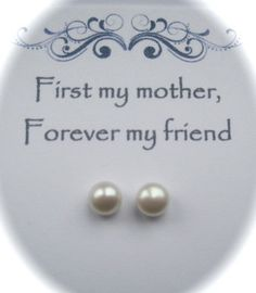 Phoebe Freshwater Pearl Sterling Silver Stud by Simplysilverbridal, £9.99 - a message for a special mom.
