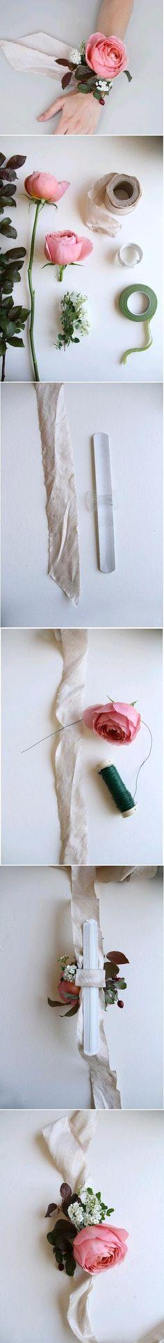 DIY Wedding Wrist Flower