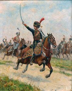 Carica dei cacciatori a cavallo della guardia imperiale francese