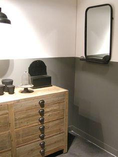 id es pour la salle de bain on pinterest On grand miroir metal noir