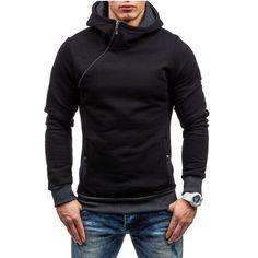 2017 Fashion Hoodies Men Sudaderas Hombre Hip Hop Mens Brand Solid hooded zipper Hoodie Cardigan Sweatshirt Slim Fit Men Hoody  Price: 25.78 & FREE Shipping  #hashtag1