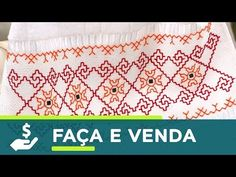 PONTO BASTILHA - PONTO ALINHAVO - Tathinha Bordados #69 - YouTube Kasuti Embroidery, Swedish Embroidery, Cross Stitch Embroidery, Hand Embroidery, Embroidery Designs, Bargello, Filet Crochet, Needlepoint, Needlework