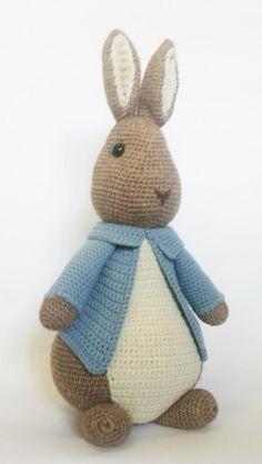Your place to buy and sell all things handmade Easter Crochet, Cute Crochet, Crochet Yarn, Crochet Toys, Peter Rabbit, Beautiful Rabbit, Knitted Bunnies, Crochet Rabbit, Crochet Amigurumi Free Patterns