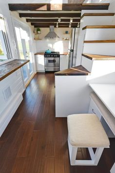 Tiny Living Homes Custom THOW with Double Vanity Sink and Full Kitchen 0018