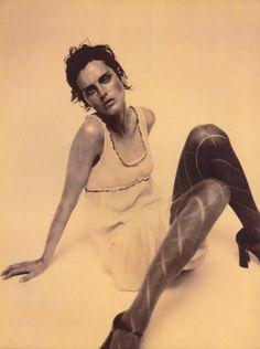 Vogue Italia July 1996 spirata a Egon Schiele Photo Paolo Roversi Models Guinevere Van Seenus & Stella Tennant