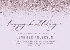 Glitter Abstract - Happy Birthday Card #greetingcards #printable #diy #birthday Happy Birthday, Diy Birthday, Birthday Cards, Birthday Card Template, Texts, Printable, Glitter, Messages, Templates
