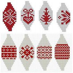 Knit Christmas Ornaments, Christmas Cross, Christmas Diy, Christmas Knitting Patterns, Christmas Embroidery, Bordado Tipo Chicken Scratch, Origami, Knitting Charts, Kwanzaa