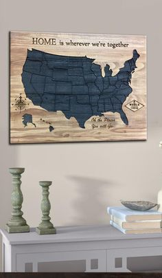 Wood Map of the USA Map Wall Decor Engraved Wood Board Wood Carved Signs Wood Map Wall Art US Map Wood Map State Usa 4Th Of July Wood Decor  USD 155.78+
