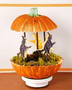Witch carousel in a pumpkin