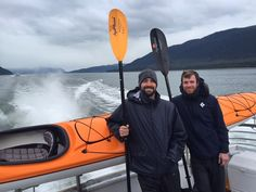 After paddling out on Tracy Arm for 3 days, they're still holding tight to their…