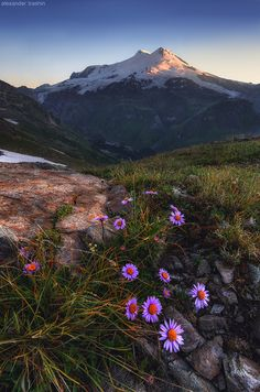 The highest mountain in Russia - Elbrus