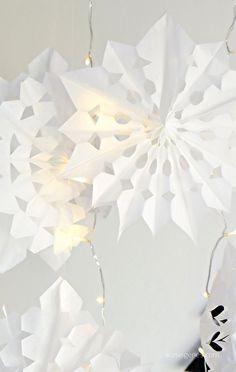 Sterne aus Butterbrottüten {Frühstückstüten} basteln | waseigenes.com