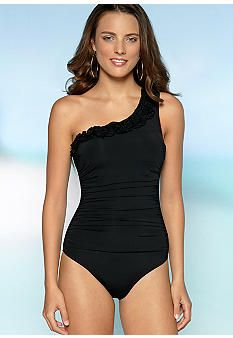 Kenneth Cole Haute One Shoulder One Piece Swim Suit - Belk.com