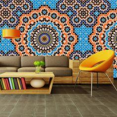 Zazous Wallpaper Mural Moroccan Mosaic