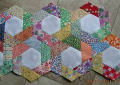 Twisted Hexagons - love this look