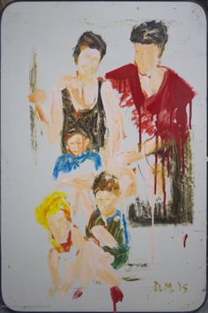 Danny Mooney 'Family Portrait' Mixed media on panel 90 x 60 cm Figure Painting, Family Portraits, Oil On Canvas, Mixed Media, Art, Art Background, Painted Canvas, Kunst, Performing Arts