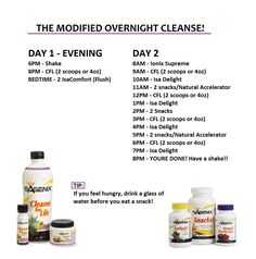 Find the regular Cleanse schedule difficult? try this and sleep through some of it!