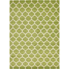 Unique Loom Geometric  Trellis Light Green 10 ft. x 14 ft. Rug-3128678 - The Home Depot