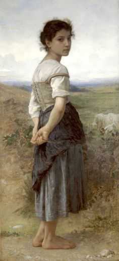 The Young Shepherdess by William-Adolphe Bouguereau.
