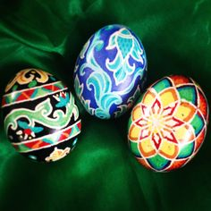 Pysanky eggs. Make your own with Kid's Ukrainian Egg Dying Kit from Bella Luna Toys!