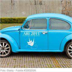 Autoaufkleber und Sticker ABI 2015 mit Katze