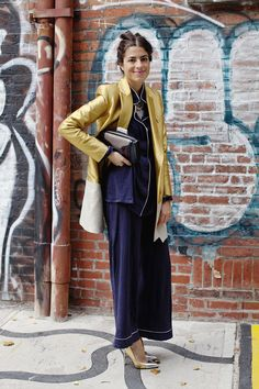 This is J | pjs all day | thisisj.com | Man Repeller | Leandra Medine | 20 Ways to Wear Pajamas… in Public! via Brit + Co