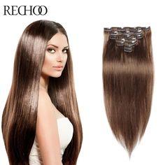 クリップで人毛エクステンションダブル描かファッショナブルな100グラムクリップでバージン毛延長ペルーレミー人間のヘアクリップ髪
