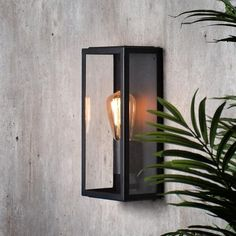 The Nomad is a contemporary outdoor glass panelled box lantern. Available in Black or Stainless Steel finish. Pair with a filament bulb for vintage charm. Front Door Lighting, Facade Lighting, Outdoor Wall Lighting, Outdoor Wall Lantern, Outdoor Walls, Contemporary Outdoor Wall Lights, Orb Pendant Light, Brass Pendant, Garden Wall Lights