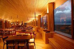 Hotel-Restaurant traumhafte Blicke-Naturpark Torres-del Paine holz decke