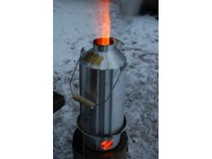 The Irish Kelly Kettle ~ Using only naturally occuring fuels such as sticks, pine cones, etc. this portable outdoor camping kettle boils water in just 3 - 5 minutes!!!