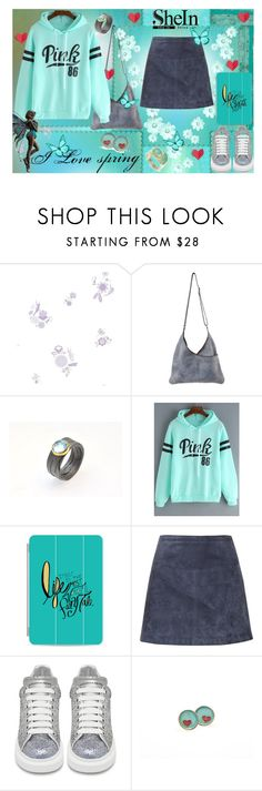 """""""I love spring"""" by giampourasjewel ❤ liked on Polyvore featuring York Wallcoverings, Casetify, Burberry and Alexander McQueen"""