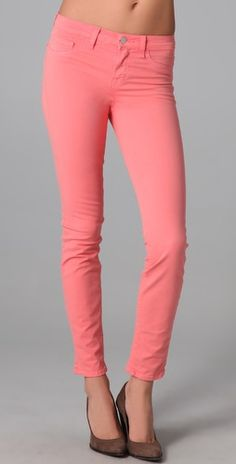 coral ankle jeans <3
