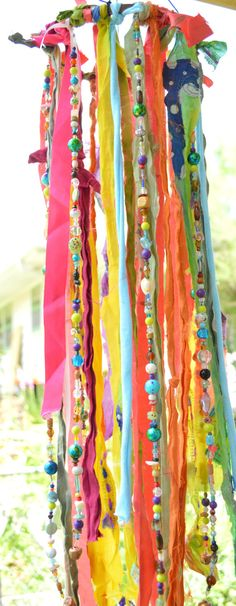 The Boho Jellyfish Wind Chime Mobile Garden Art von HibiscusHippie