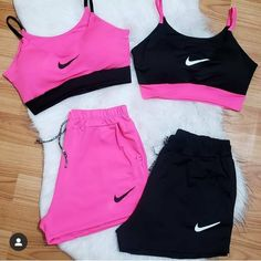 Cute Nike Outfits, Cute Workout Outfits, Cute Lazy Outfits, Swag Outfits For Girls, Girls Fashion Clothes, Girly Outfits, Simple Casual Outfits, Baddie Outfits Casual, Sporty Outfits