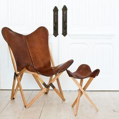 "Handcrafted in Argentina by The Palermo Leather Workshop One cannot easily claim ""heirloom quality,"" but we use the term to describe our handcrafted chair - without reservation. Our Palermo Tripolina"