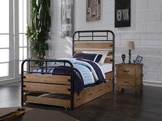 ACME Adams Twin Bed Antique Oak - 30610T