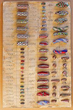 Venetian Sample Bead Card