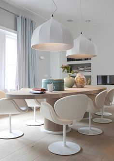 """Lidewij Edelkoort: thema """"Egg"""", ronde, ovale vormen. Kops table - van Rossum Meubelen Te koop bij Eurlings Interieurs https://www.facebook.com/eurlingsinterieurs"""
