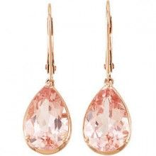 Pear shaped Morganite earrings in rose gold.. I can get them for cost from my work, so tempting