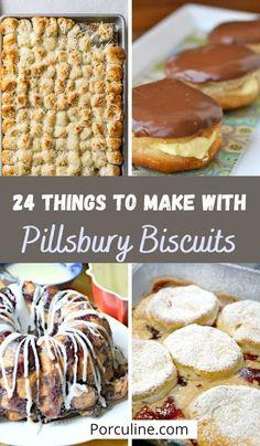 Pillsbury Crescent Roll Recipes, Pillsbury Crescent Recipes, Refrigerated Biscuit Recipes, Recipes Using Crescent Rolls, Pillsbury Dough, Biscuit Dessert Recipe, Best Biscuit Recipe, Dessert Bread, Dessert Recipes