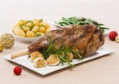 Roasted Whole Leg of Lamb - yum!