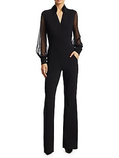 7282dca3634 Chiara Boni La Petite Robe - Mesh Illusion Sleeve Jumpsuit