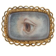Georgian English Lover�s Eye Brooch | From a unique collection of vintage brooches at https://www.1stdibs.com/jewelry/brooches/brooches/