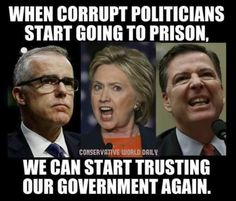 When corrupt politicians/government employees start going to prison, we can start trusting government again. Political Views, Political Satire, Conservative Politics, Truth Hurts, God Bless America, Life Lessons, Shit Happens, Thoughts, Humor