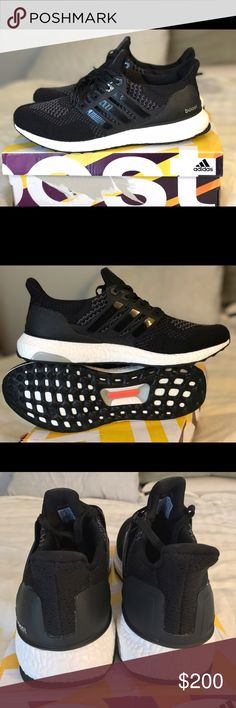 Adidas ultra boost size 10 mens us brand new Us mens size 10 brand new with box adidas ultra boost shoes black and white Adidas Shoes Athletic Shoes