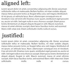 flush left alignment - Google Search