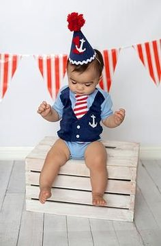 first+birthday+sailor+outfit | Sailor Nautical 1st Birthday