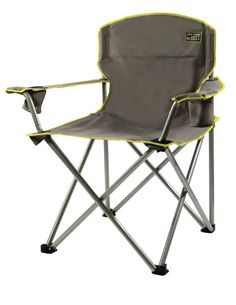 Heavy Duty Folding Camp Chair Portable Outdoor Seat Camping Cup 500LBS Oversized #QuikShade