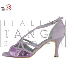 Discover Ilenia.... Tango shoes for women with interlaced design and paillettes  http://www.italiantangoshoes.com/shop/de/la-rosa-del-tango/307-ilenia.html