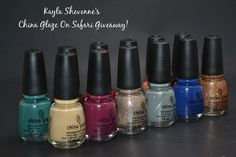 Nails by Kayla Shevonne: Giveaway - The Entire China Glaze On Safari Collection!